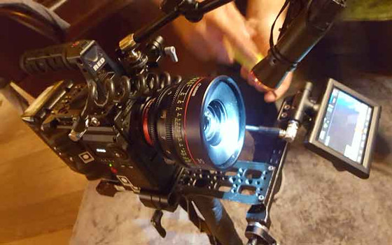 Red Camera with Cn-E lenses