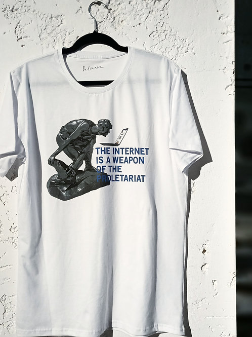 Julia Beliaeva. The Internet is a Weapon of the Prolitariat T-Shirt