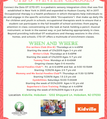 CTD's Brand New Enrichment Classes hosted at Kidville, Hoboken (New Jersey)
