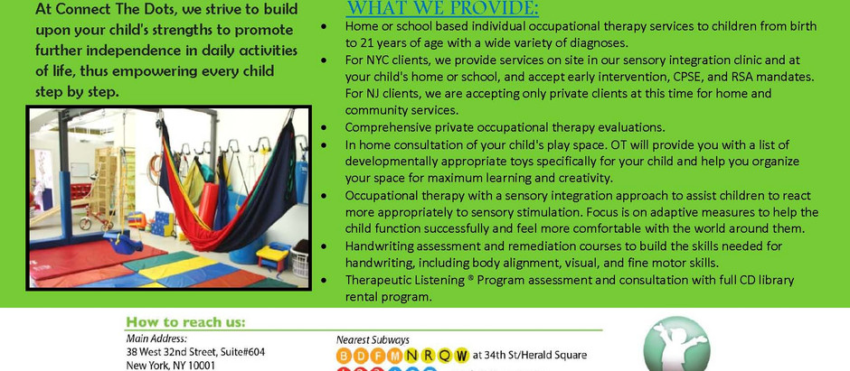 CTD OT is hiring Pediatric Occupational Therapists in NYC and Hudson County, NJ!