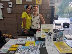 San Francisco Zine Fest 2017. With co-curator of Mixed Queer Race Feminist zine, Emiliano Lemus