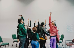 """""""a mirror, a threshold, a song: medicines of healing from off the edges of our maps."""" photo by Z. Baisalova. Workshop session for healing arts learning laboratory, supported by Cal Shakes and California Arts-in-Corrections"""
