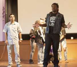 Playback Theater from community stories, Youth Resist Police Brutality (Humanist Hall)