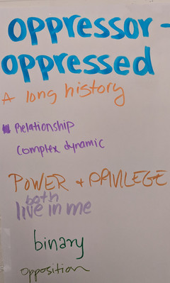 Words on the Wall: Theater of the Oppressed workshop