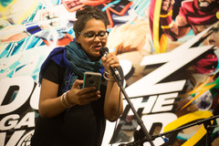 Inaugural Subcontinental Drift Open Mic: peformance night for and by South Asians. United States of Asian America Festival 2018, at SoleSpace in downtown Oakland, CA