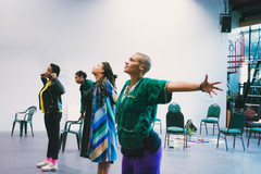 Embodying moments of impact, workshop with healing arts learning laboratory. photo by Z. Baisalova. Supported by Cal Shakes and California Arts-in-Corrections