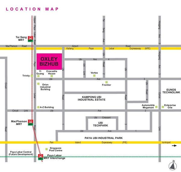 Oxley Bizhub Map