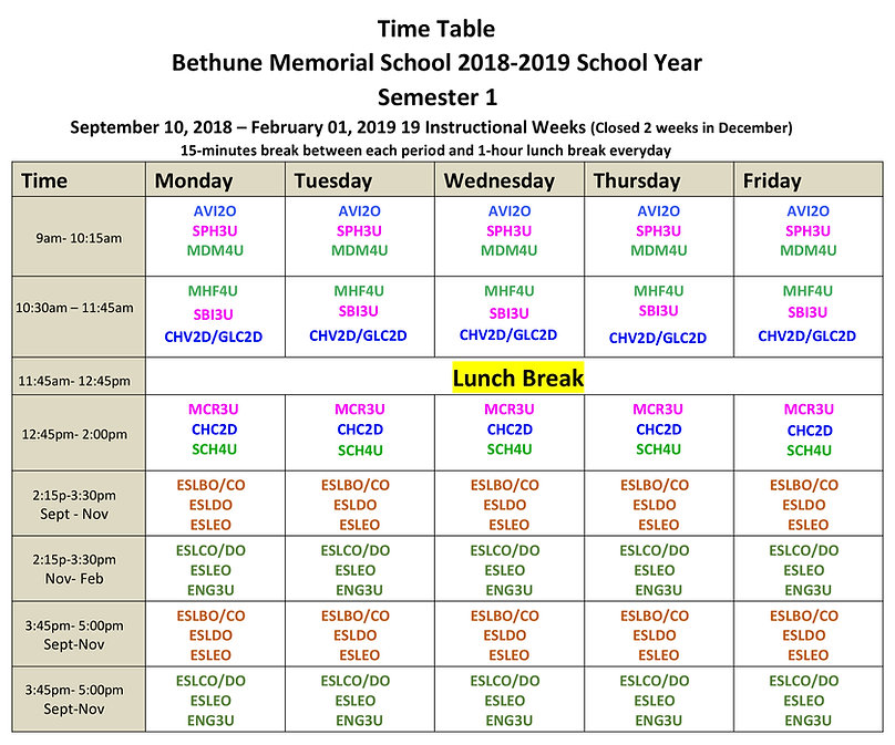 BMS 2018-2019 School Year Time Table(1)-