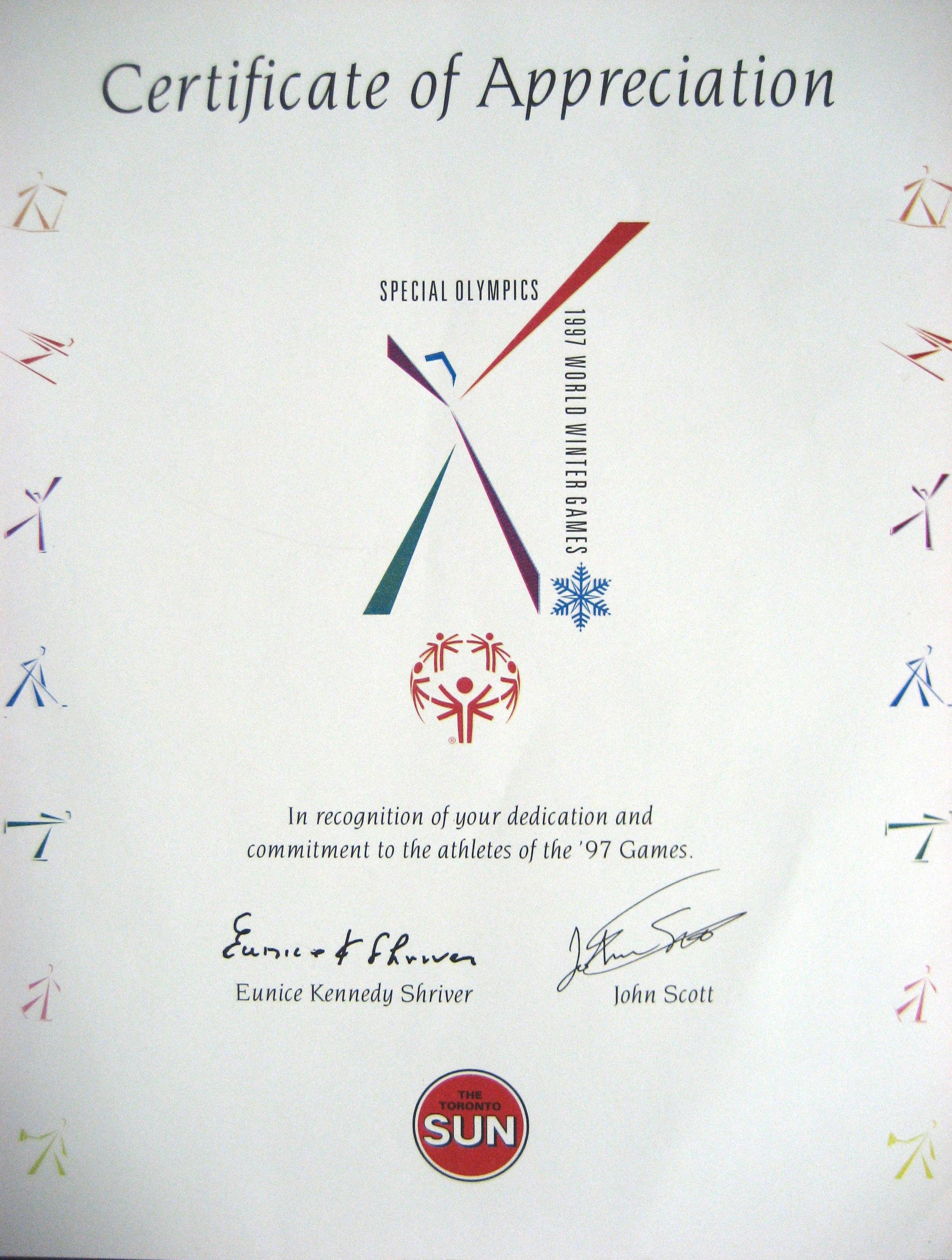 Special Olympics 1997