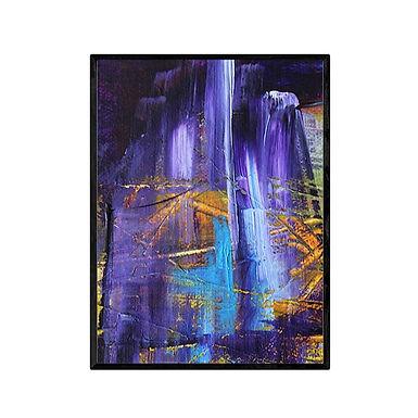 Purple Waterfall Abstract Print