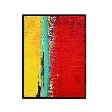 Yellow Green Red Art Print