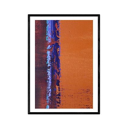 Amber Abstract Print