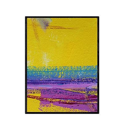 Yellow and Purple Abstract Art Print