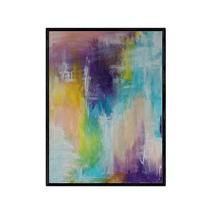 Colours of Summer Modern Abstract Art Print