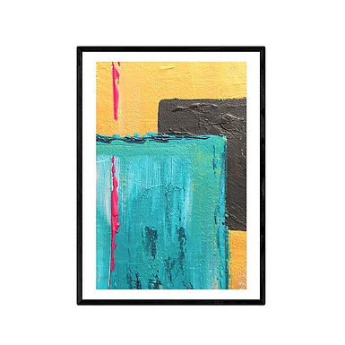 Cubes Abstract Print