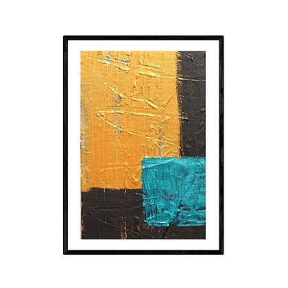 Black and Gold Modern Geometric Abstract Print