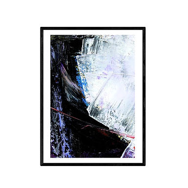 Jagged Lines Abstract Art Poster