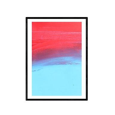 Crashing Waves Abstract Art Print