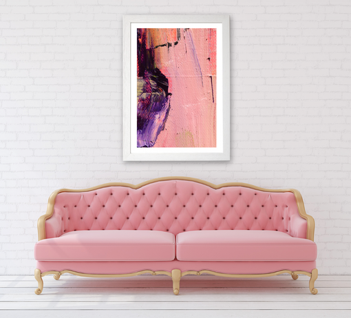 Amethyst abstract print pink background.