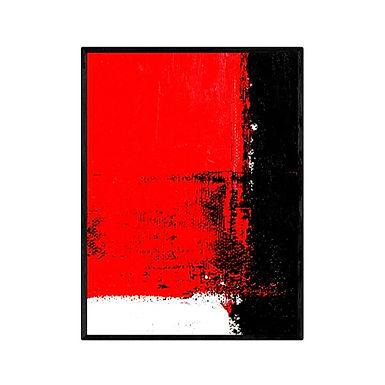 Red Square Abstract Print