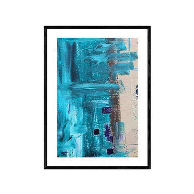 The Beach Abstract Print