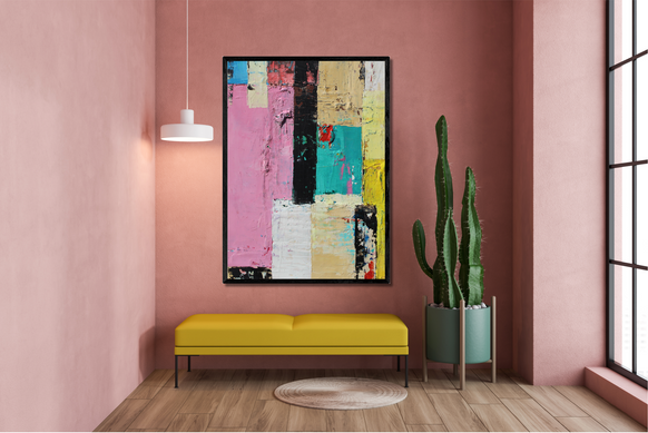 High street abstract painting