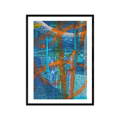 Orange Lines Modern Abstract Art Print
