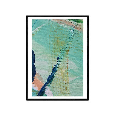 Azure Abstract Print