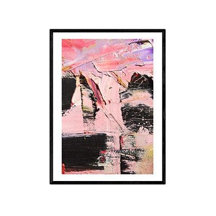 Pink Tiger Abstract Art Print