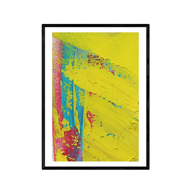 For The Love of Yellow Abstract Art Print