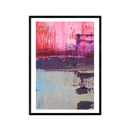 Cherry Blossoms Abstract Art Poster