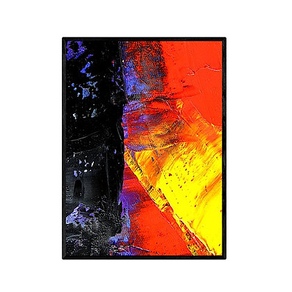 Red meets Black Abstract Print