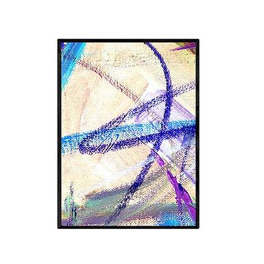 Purple Swirl Abstract Art Print