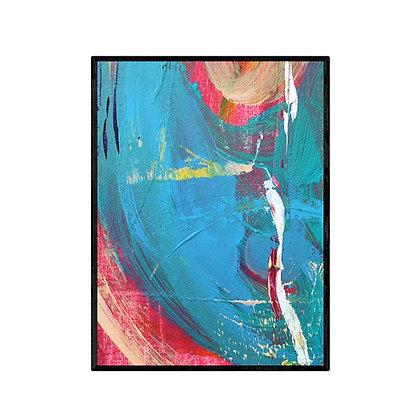 Red Blue Circles Art Print