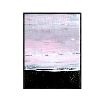 Pink Clouds Abstract Print
