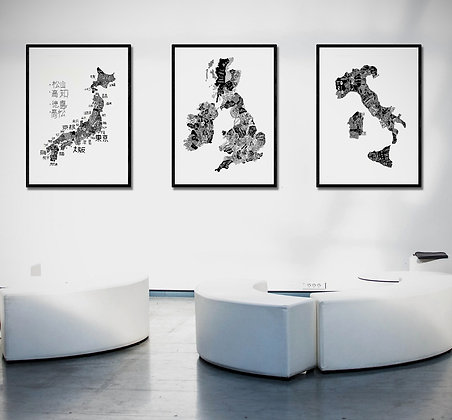 Hand Drawn Maps Collection