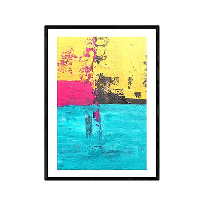 The Lake Abstract Art Print