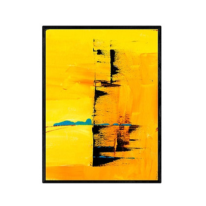 Yellow Foundations Modern Abstract Art