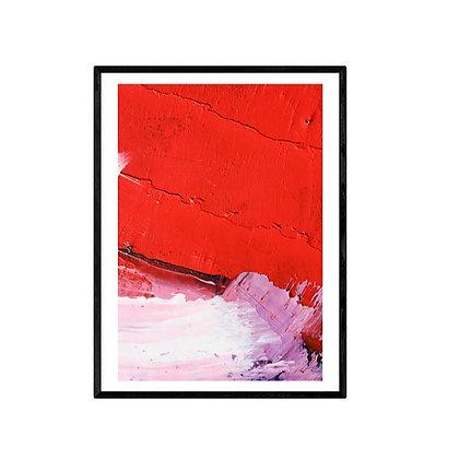 Red Shore Art Poster