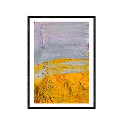 Grey Sea Abstract Print