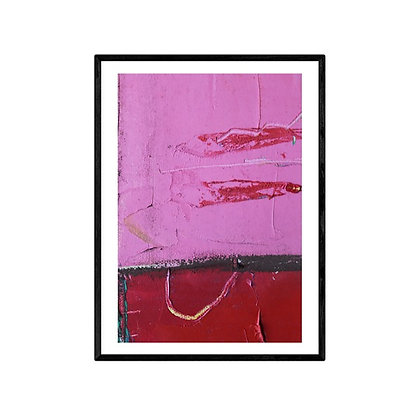 Pink Love Abstract Art Print