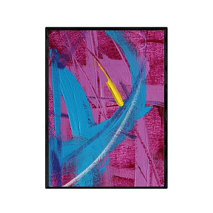 Blue Curve Abstract Print