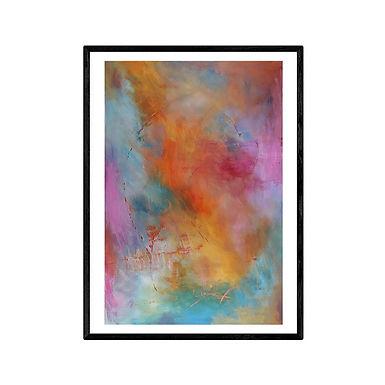 Supernova Abstract Art Print