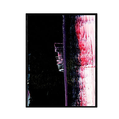 City at Night Abstract Print