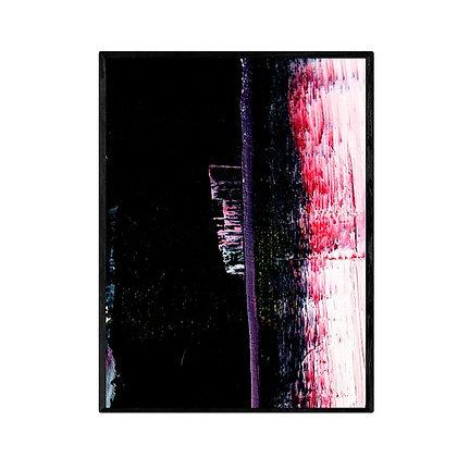 City at Night Abstract Print