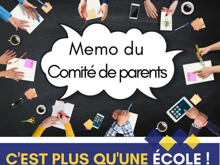 Faits saillants : rencontres du Comité de parents