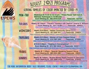 August Programs