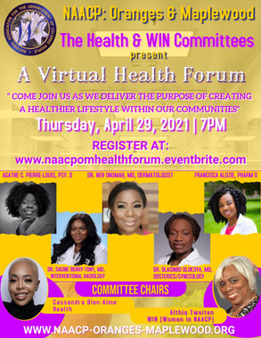 NAACP:ORANGES & MAPLEWOOD A VIRTUAL HEALTH FORUM