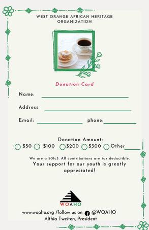 Pastries & Tea Donation Card