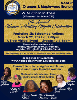NAACP OF THE ORANGES & MAPLEWOOD 9TH ANNUAL WOMEN'S HISTORY MONTH CELEBRATION
